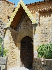 Eglise Sainte-Marie-Madeleine - Deutsch: Eingang der Kirche in Rennes-le-Chateau