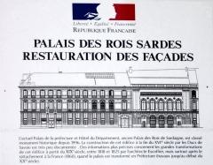 Palais de la Préfecture, ancien palais des rois de Sardaigne -  This file has no description, and may be lacking other information.  Please provide a meaningful description of this file.