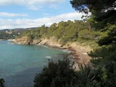 Domaine du Rayol - English: View from the coastal path of the Domaine Rayol