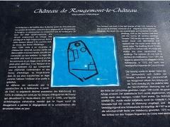 Château - Français:   Panneau explicatif sur le château de Rougemont