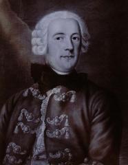 Faïencerie - Français:   Jean-Louis de Beyerlé, né en 1709, décédé vers 1794, directeur de la Monnaie de Strasbourg, fondateur de la fabrique de porcelaine de Niederwiller,