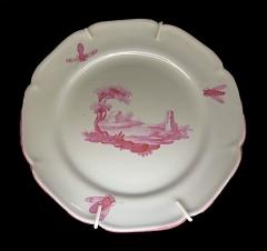 Faïencerie - Français:   Assiette de Niderviller en camaïeu pourpre, époque comte de Custine (1770-1793) au Musée du pain d\'épices et de l\'art populaire alsacien de Gertwiller (Bas-Rhin)