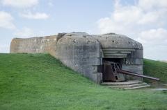 Batterie d'artillerie de Longues - English:   The second bunker (when beginning at the car park) of the Atlantic Wall.