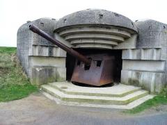 Batterie d'artillerie de Longues -  Batteries Allemande de Longues sur Mer, Normandie, France