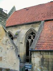 Couvent des Carmes - Français:   La chapelle du XIVe siècle, mesurant 25 m sur 10 m, n\'a pas été rénovée lors de la restauration des bâtiments conventuels en 1999-2001 pour transformation en appartements. Un plafond divise la chapelle à mi-hauteur.