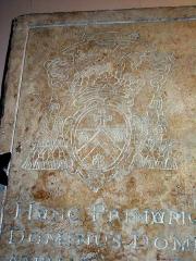 Palais de Justice - Français:   Pierre gravée de fondation de l\'église des Célestins à Amiens