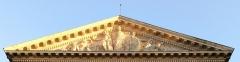 Palais de Justice - Français:   Amiens, palais de justice, bas-relief du fronton représentant \