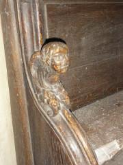 Eglise de l'Annonciation Notre-Dame - Français:   Dammarie-sur-Saulx (Meuse) église, petite sculpture stalle