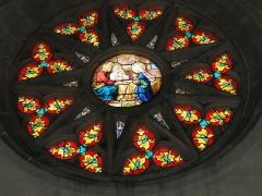 Eglise de l'Annonciation Notre-Dame - Français:   Dammarie-sur-Saulx (Meuse) église, vitrail (rosette)