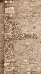 Cathédrale Notre-Dame de la Sède - Saint-Lizier (Ariège, Midi-Pyrénées, France): Spolia antiques dans un mur de la cathédrale Notre-Dame-de-la-Sède.