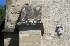 Eglise Saint-Didier - Français:   Ancienne église du prieuré Saint-Didier (XIIe S.) à Voreppe (Isère, France), tête sculptée, façade ouest