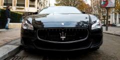 Hôtel Plaza-Athénée -  Maserati Quattroporte GTS 3.8 '13, Avenue Montaigne, Paris 2014.