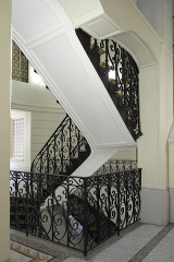 Villa des Arts - Deutsch: Villa des Arts im 18. Arrondissement in Paris (Île-de-France/Frankreich), Treppenaufgang