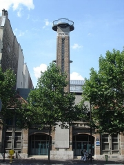 Gymnase Jean-Jaurès -  Campanile of the gymnase Jean-Jaures (avenue jean Jaures -Paris). Built in 1913