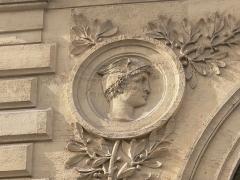 Ancien siège de la Chambre de Commerce de Paris - English: Chambre de commerce of Paris, Place de la Bourse and rue Notre-Dame-des-Victoires