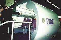 Aérogare du Bourget - Русский: Макет интерьера многоцелевого самолета Ан-74, впервые представленный на выставке Le Bourget 1997 в Париже