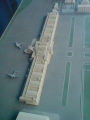 Aérogare du Bourget - English: A model of the historical layourt of the Le Bourget Airport in the French Air and Space Museum, Paris, France.
