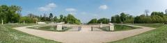 Domaine national de Saint-Cloud - English: A Panorama of the Bassin de la Grande Gerbe and its surroundings, located in the Parc de Saint-Cloud