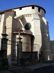 Eglise Sainte-Marie - Français:   Chevet de l\'église Notre-Dame de l\'Assomption (XIIe siècle) à Roquefort, dans le département français des Landes.