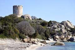 Tour de Figari ou de Caldarello -  Pianottoli-Caldarello, Freto (Corse-du-Sud) - La tour génoise de Caldarello.  Camera location41°27′51.76″N, 9°03′26.42″E  View this and other nearby images on: OpenStreetMap 41.464378;    9.057340