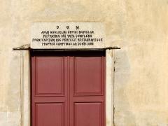 Couvent de l'Annonciation -  Morsiglia (Corsica) - Inscriptions au-dessus de la porte du couvent de l'Annonciation