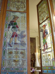Maison de Marcel Dupré - English: Stained glass window in Marcel Dupré's organ room