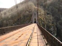 Viaduc des Rochers Noirs (également sur commune de Soursac) - Viaduc des Rochers Noirs, le pylône du coté Soursac vu du coté Lapleau