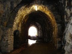 Viaduc des Rochers Noirs (également sur commune de Soursac) - Viaduc des Rochers Noirs, le tunnel avant le viaduc coté Soursac
