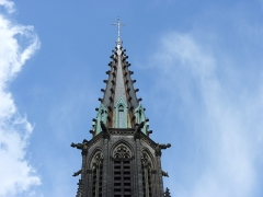 Eglise Saint-Amé - Français:   Clocher de l\'église Saint-Amé, Plombières-les-Bains (Vosges, Lorraine, France)