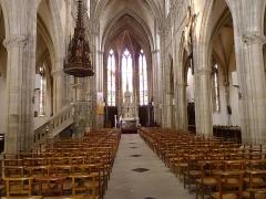Eglise Saint-Amé - Français:   Le vaisseau et au fond le chœur, Église Saint-Amé, Plombières-les-Bains (Vosges, Lorraine, France)