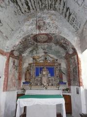 Eglise Saint-Geniès de Benque-Dessous - Français:   Le chœur de l\'église Saint-Geniès de Benque-Dessous, Haute-Garonne, France.
