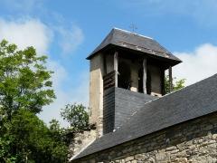 Eglise Saint-Geniès de Benque-Dessous - Français:   Le clocher-mur de l\'église Saint-Geniès de Benque-Dessous vu du sud-est, Haute-Garonne, France.