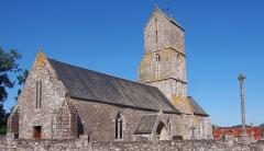Eglise Saint-Médard - Français:   Dragey-Ronthon (Normandie, France). L\'église Saint-Médard de Dragey.