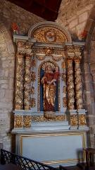 Eglise Saint-Médard - Français:   Dragey-Ronthon (Normandie, France). L\'autel de la Vierge de l\'église Saint-Médard de Dragey.