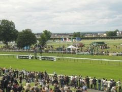 Hippodrome - English: Finishline Chantilly Racecourse
