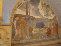 Chapelle Saint-Pancrace -  Fresque du porche de l'Ermitage Saint Pancrace - Piéta - Grambois
