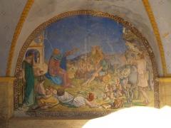 Chapelle Saint-Pancrace -  Fresque du porche - prêche - Grambois