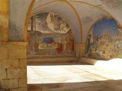 Chapelle Saint-Pancrace -  Fresques du porche de l'ermitage - Grambois