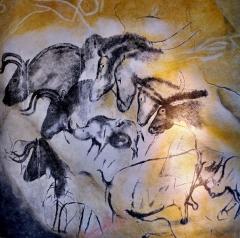 """Grotte ornée du paléolithique supérieur située au lieudit """"Combe d'Arc"""" dite grotte Chauvet - English: aurignacien, 31.000 yo"""