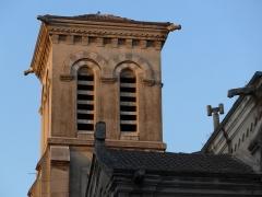 Usine de chaux - cimenterie Lafarge, chapelle Saint-Victor de la cité Blanche -  Usine de chaux, chapelle Saint-Victor de la cité Blanche, sommet du clocher.