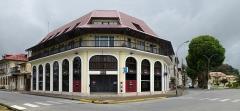 Place de l'Esplanade, dite place des Palmistes - English: Cayenne, French Guiana: Banque française commerciale, 8, place des palmistes.
