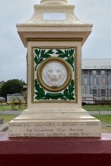 Place de l'Esplanade, dite place des Palmistes - English: Cayenne, French Guiana: Colonne de la république, place des palmistes. The memorial was erected in 1889 to commemorate the French Revolution of 1789.