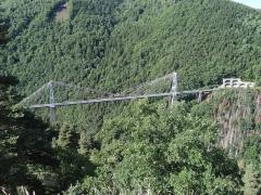 Pont Gisclard et stèle commémorative - Català: Mirador del Pont Gisclard.Catalunya Nord.