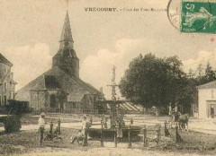 Eglise Saint-Martin -  Vrécourt (Vosges - France): place des Trois Bourdons