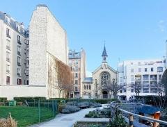 Eglise luthérienne de Bon-Secours -  Jardin de la Folie-Titon @ Paris  Jardin de la Folie-Titon, 28 Rue Chanzy, 75011 Paris, France.