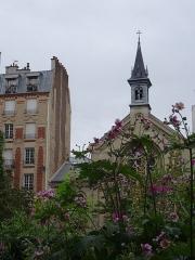 Eglise luthérienne de Bon-Secours -  fleurs de fin d'été, Paris 11