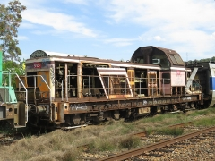 Gare - English: A BB 66700 (BB 66703, in activity between July 1964 and August 2015) parked at the scrapyard of Culoz (Ain, France) on September 9, 2018.