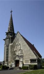 Eglise Saint-Martin - English: L'église Saint-Martin; Monthenault (Aisne); Picardie, Aisne, France; ref: PM_014286_F_Montenault_Aisne; 1932; 1932; Photographer: Paul M.R. Maeyaert; www.pmrmaeyaert.eu, © Paul M.R. Maeyaert; pmrmaeyaert@gmail.com; Cultural heritage; Cultural heritage/Modernism; Europe/France/Monthenault (Aisne)