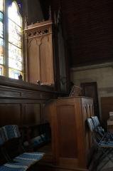 Temple protestant dit église évangélique - Français:   intérieur de l\'Église réformée des États-Unis (Château-Thierry).