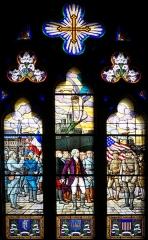 Temple protestant dit église évangélique - Français:   à l\'intérieur de l\'église.